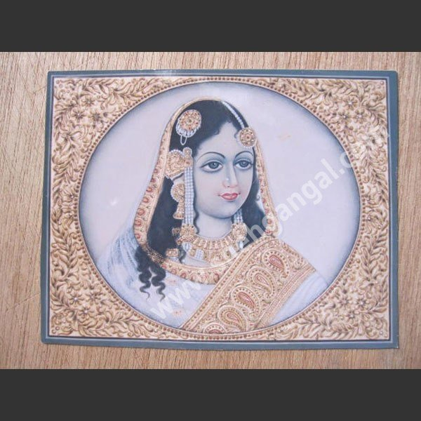 Royal Mughal painting in work of gold